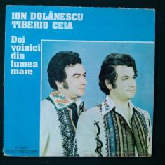 ION DOLANESCU SI TIBERIU CEIA - DOI VOINICI DIN LUMEA MARE - Muzica Populara electrecord, VINIL