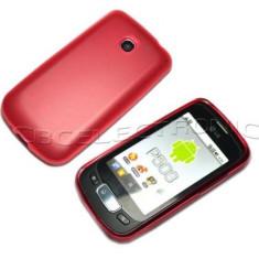 Husa silicon rosie LG OPTIMUS ONE P500 + folie protectie ecran - Husa Telefon LG, Rosu