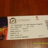 Bilet     F.C. Timisoara  -  Dinamo zagreb