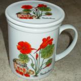 Infuzor / Cana cu infuzor - portelan China - marcata - Infuzor ceai