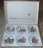 Set - farfurii de colectie + raft - portelan Bavaria - Furstenberg - 1952