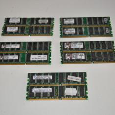 **OKAZIE** KIT MEMORIE RAM 2GB (2x1GB) DDR1 400MHZ TESTATE GARANTIE 12 LUNI !, Dual channel