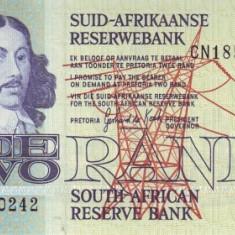 Africa de Sud 2 Rand (nedatata~ 1978, signature: de Kock ) P-118 UNC !!!