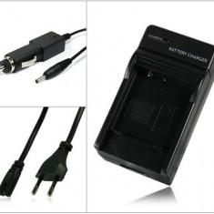 Incarcator acumulator Panasonic CGA-S008E S008 | DMW-BCE10E + adaptor auto (12V) pentru Lumix DMC-FX30 FX33 FX35 FX37 FX55 FX500 FS3 FS5 FS20