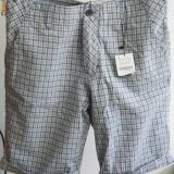 Pantaloni scurti / Bermude barbati (barbatesti) Primavara/ Vara BERSHKA NOU, Marime: 36, Culoare: Gri, Bumbac