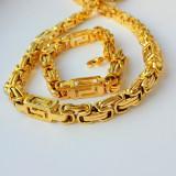 Set Lant+Bratara  Inox placat Aur model Versace!