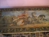 MASA VECHE - BIROU DE SCRIS -  MARE PICTAT MANUAL - DEOSEBIT - APROX 1900, Mese si seturi de masa, 1800 - 1899