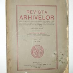 Revista arhivelor Director C. Moisil Volumul II Nr. 4 - 5 Bucuresti 1927 - 1929