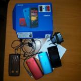 Nokia 500 Full Box - Telefon mobil Nokia 500, Negru, 4GB, Neblocat, Fara procesor, 512 MB