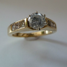 Logodna aur 18k cu diamante cu 0, 92ctw (vezi alte modele ) - Inel de logodna