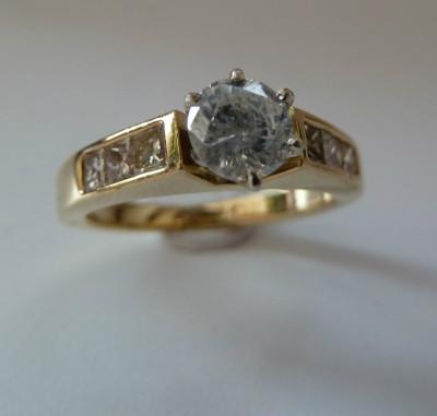 logodna aur 18k cu diamante cu 0,92ctw (vezi alte modele ) foto