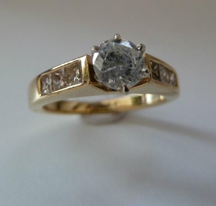 logodna aur 18k cu diamante cu 0,92ctw (vezi alte modele )