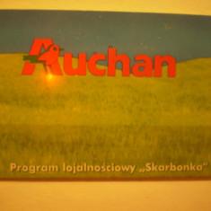 CARD PRIVAT CUMPARATURI AUCHAN - PROGRAM LOJALNOSCIOWY SKARBONKA - POLONIA . - Card Bancar