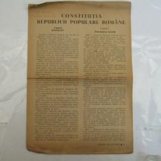 Constitutia R. P. R. aparuta in publicatia Stiinta si Cultura - Carte Drept constitutional