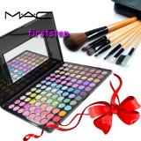 Trusa machiaj profesionala 96 culori MAC + set 7 pensule make-up cu borseta - Trusa make up