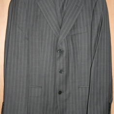 Costum barbat - Costum barbati Zara, Marime: 52, Culoare: Gri, Marime sacou: 52, Lana