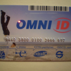 CARTELA PRIVATA OMNITEL - POLONIA - NEFOLOSITA . - Card Bancar