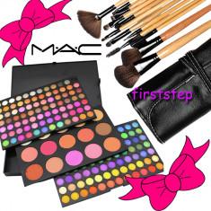 Trusa farduri machiaj profesionala 183 culori MAC + set 12 pensule make-up Bobbi Brown par natural - Trusa machiaj Mac Cosmetics