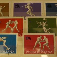 Sport 1969-serie incompleta-lot B108-Lot timbre Romania stampilate, deparaiate