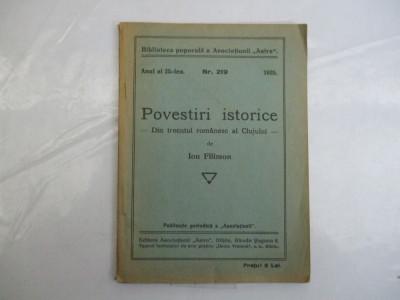 I. Filimon Povestiri istorice din trecutul romanesc al Clujului Sibiu 1935 foto