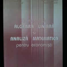 ELEMENTE DE ALGEBRA LINIARA SI ANALIZA MATEMATICA PENTRU ECONOMISTI- Ed. Todesco 2003