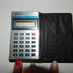 Calculator de buzunar pentru colectionari, marca SHRAP, defect - Calculator Birou