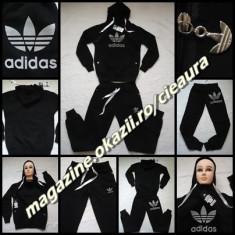 TRENING GLUGA DAMA FIRMA ADIDAS BUMBAC NEGRU COSTUM SPORT COLECTIE NOUA - Trening dama Adidas, Marime: XL
