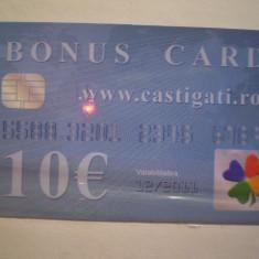 BONUS CARD - 10 EURO - W W W . CASTIGATI . RO - SERII DIFERITE - 2 BUC . - Card Bancar