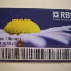 CARD BANCAR - RBS ROYAL BANK OF SCOTLAND - NOMINALIZAT .