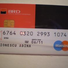 CARD BANCAR - BRD - MAESTRO - PERSONALIZAT .