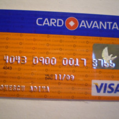 CARD BANCAR - CREDIT EUROPE BANK - CARD AVANTAJ - VISA - PERSONALIZAT .