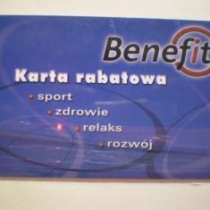 CARD BENEFIT - KARTA RABATAWA - POLONIA . - Card Bancar