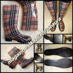CIZME SILICON DAMA made in ITALY GEN FIRMA BURBERRY APRIL SHOWERS PLOAIE ZAPADA - Cizma dama Burberry, Culoare: Din imagine, Marime: 37, 38, 39, Cauciuc