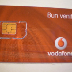 CARTELA TELEFONICA CU SIM - VODAFONE - BUN VENIT - NEFOLOSITA . - Card Bancar