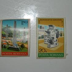 Set de doua timbre de colectie, 1978, Aurel Popescu, 1.5 lei si 20 Bani - Timbre Romania, Amestecate