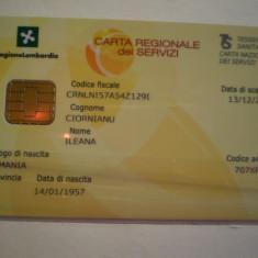 CARD BANCAR - CARTA REGIONALE DEI SERVIZI - BANCA REGIONE LOMBARDIA - ITALIA - PERSONALIZATA .