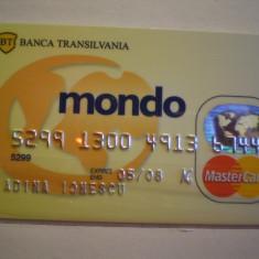 CARD  BANCAR - BANCA  TRANSILVANIA - MONDO - MASTER  CARD - PERSONALIZAT .