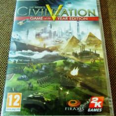 Joc Civilization V GOTY Edition, PC, original si sigilat, 39.99 lei(gamestore)! - Jocuri PC Altele, Strategie, 12+, Single player