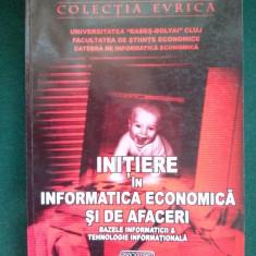 INITIERE IN INFORMATICA ECONOMICA SI DE AFACERI Ed. Risoprint Cluj-Napoca 2003