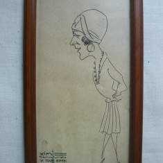 Caricatura veche ( Xim, caricaturiste La Tour Eiffel ) - Pictor strain