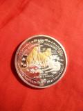 Placheta ONU- Animale pe cale de disparitie- Ghepardul 2002 , Argint 999 , proof
