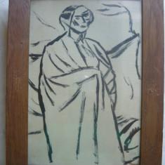 Desen - Iser ( ilustratie la volumul De vorba cu mine insumi de Ion Minulescu ) - Pictor roman