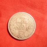 Moneda 1 Kor. 1895 Fr.Josef, argint Ungaria, cal.Buna