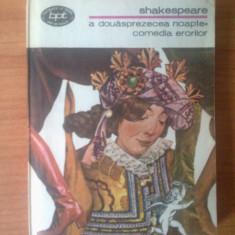 D9 Shakespeare - A douasprezecea noapte / Comedia erorilor - Roman, Anul publicarii: 1981