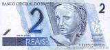 BRAZILIA █ bancnota █ 2 Reais █ 2001 █ P-249a █ UNC █ necirculata