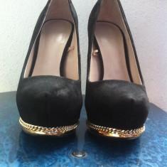 Pantofi ZARA Woman - Pantof dama Zara, Negru, Marime: 36