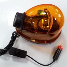 Girofar clasic tip lacrima 12V galben portocaliu (orange) - Girofar Auto
