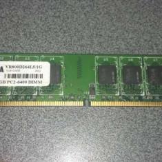Memorie RAM desktop VRAM 1GB, DDR2 800 VR800D264L5/1G - poza reala, 800 mhz