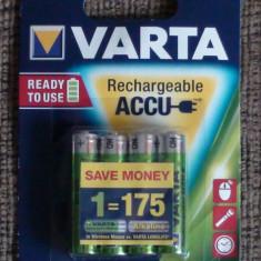 Acumulatori Baterii Reincarcabile AAA VARTA 800mAh R3 set x4 Rechargeable Accu - Baterie Aparat foto Varta, Tip AAA (R3)