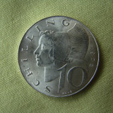 10 schilling 1972 Austria - Argint aUNC, Europa